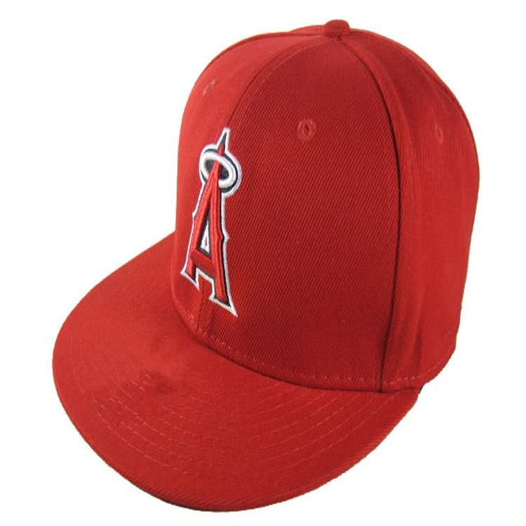f48bc2aa7d3828 Wholesale Los Angeles Angels #Fitted #Caps A Letter embroidery baseball cap  flat-brim hat team size baseball cap