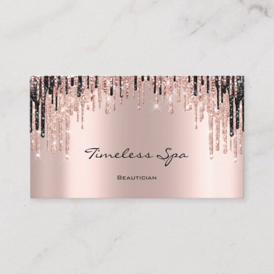 Makeup Artist Rose Spark Lips Wax Appointment Card