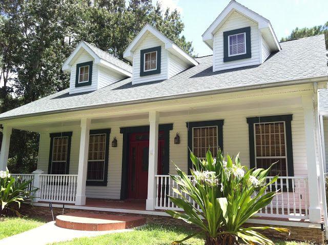 Black trim around windows white farmhouse exterior - Houses with black windows ...