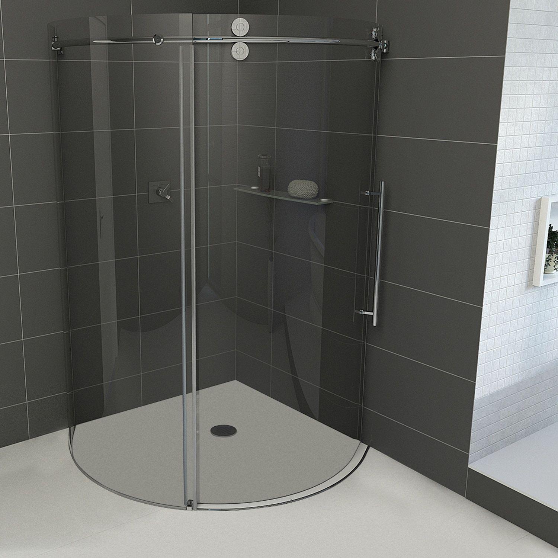 Vigo Sanibel Sliding Door Shower Enclosure With Right Sided