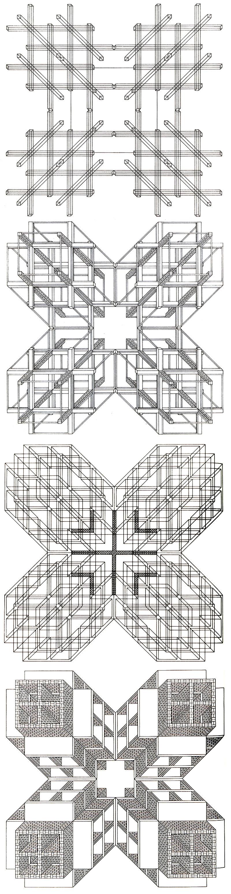 Anti Vitruv Super Brunelleschi On Wordpress Com Stanley Tigerman Architecture Drawings Blueprints