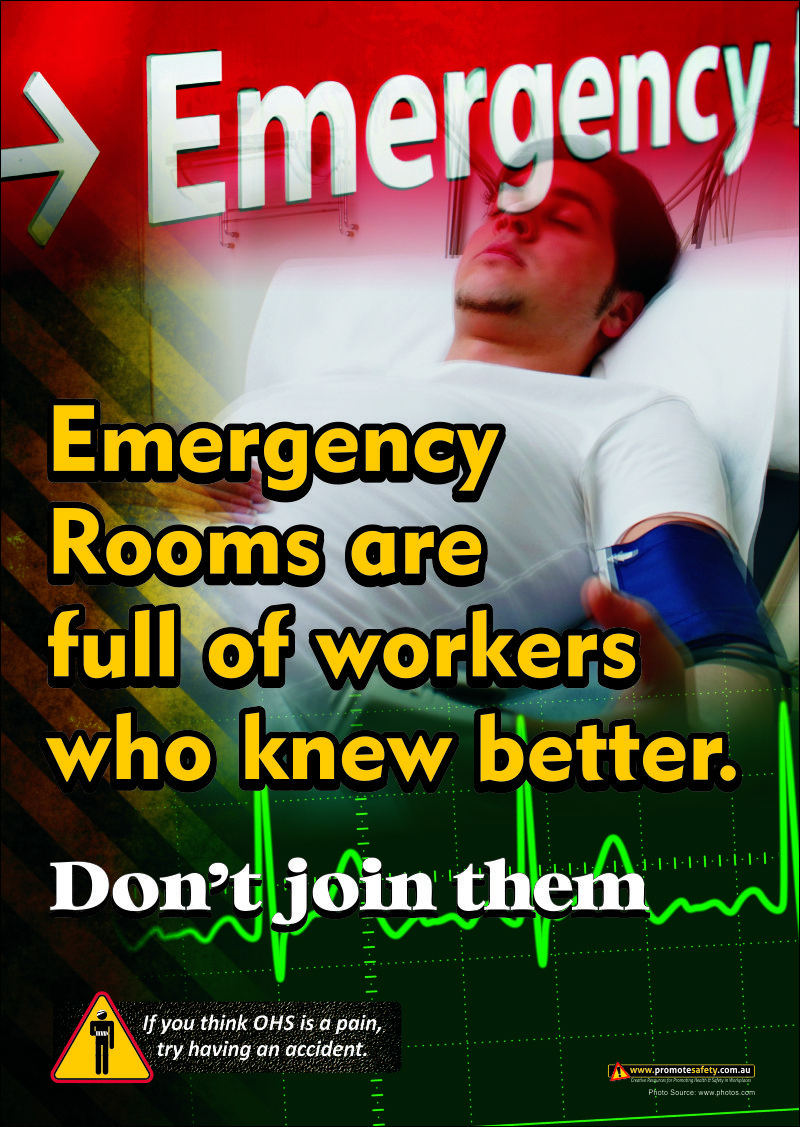 A3 size workplace safety poster warning workers about
