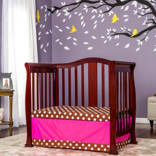 Dream On Me Naples 4 In 1 Mini Convertible Crib Red