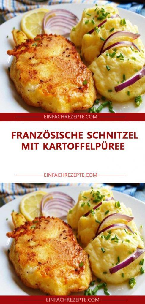 Photo of French schnitzel with mashed potatoes 😍 😍 😍