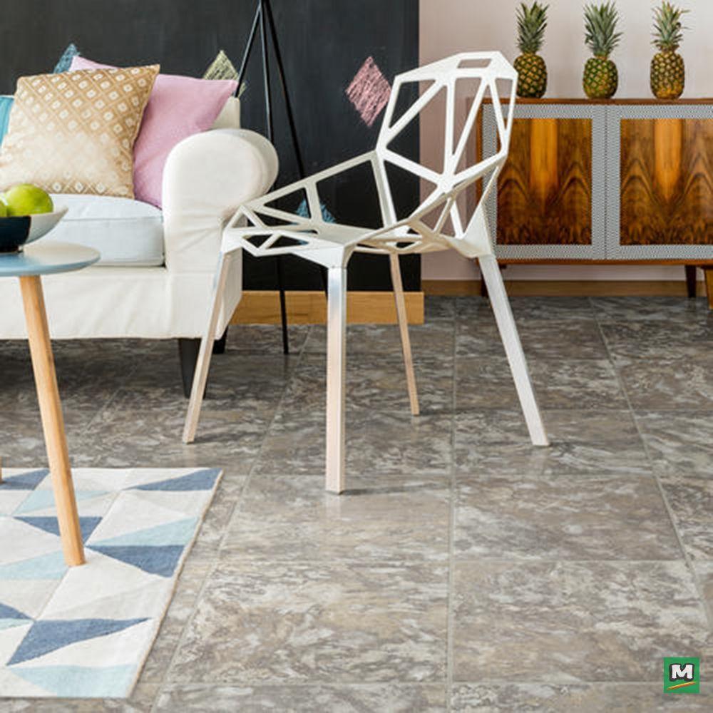 Easily Transform Your Space With Congoleum Duraceramic Origins Aura Vinyl Tiles These Tiles Features The Look Of Realistic Ston Vinyl Tiles Home Decor Tiles