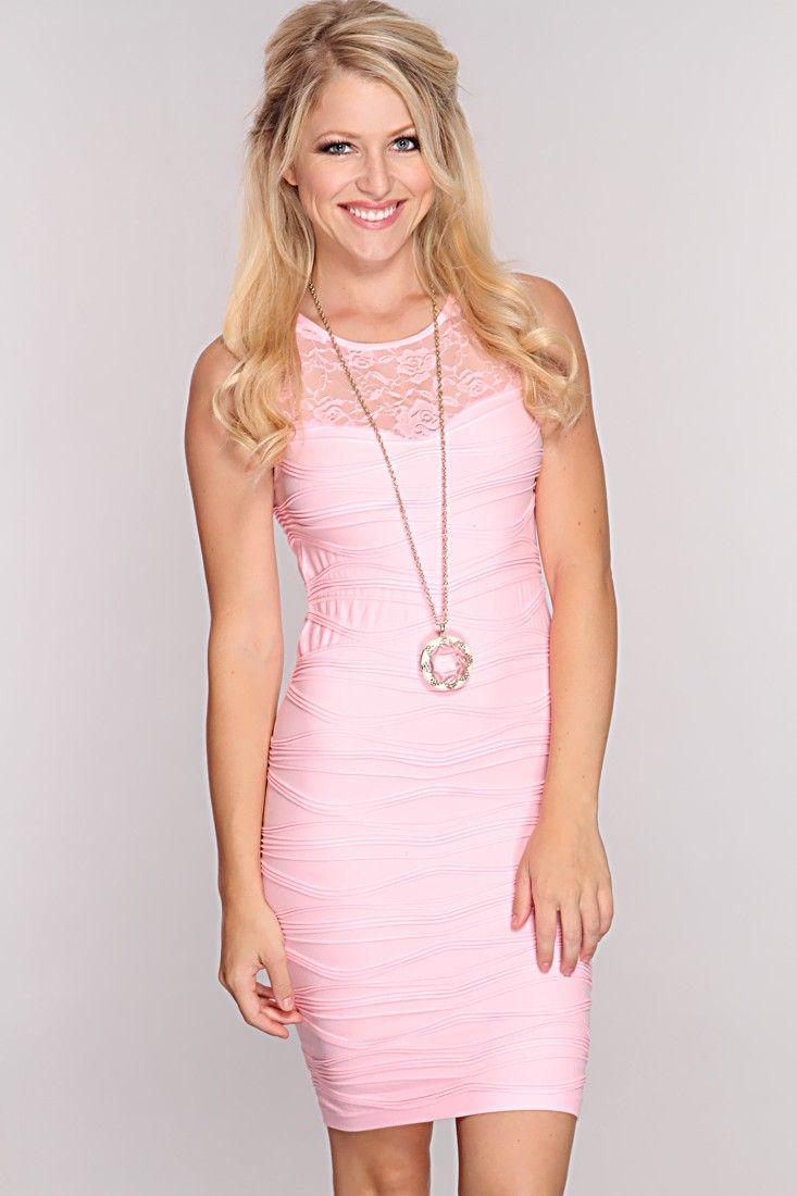 Pink Floral Mesh Ribbed Dress $7.99 | VESTIDOS PINK | Pinterest ...