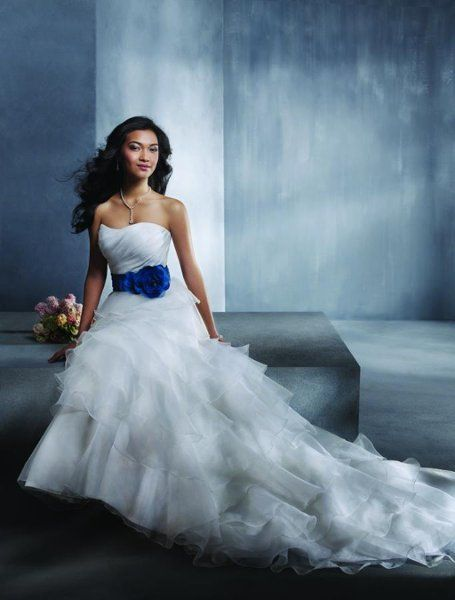 Alfred Angelo Wedding Dress Style 2299 60 Colors Gown Semi Cathedral Train