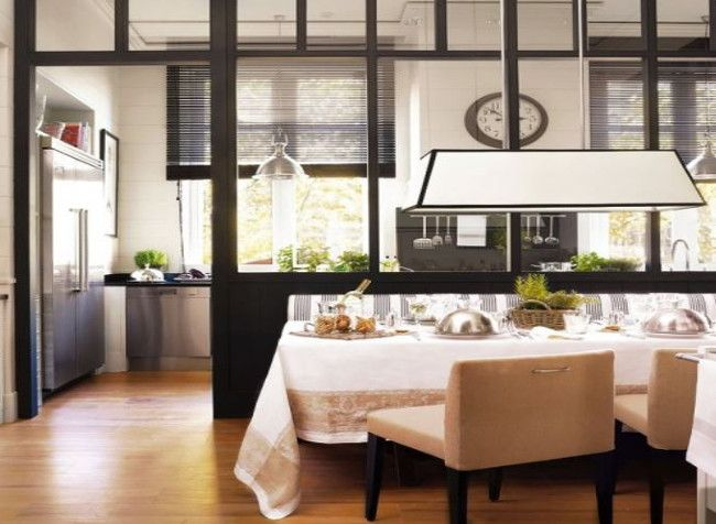 Modern Black And White Kitchen Dining Room Combination By Delounder El Meuble Via Atticmag