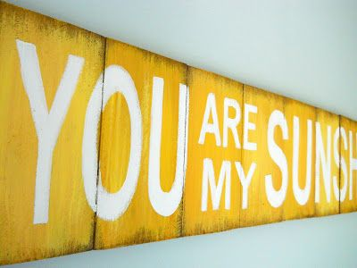 Lake Girl Paints: You Are My Sunshine - Arial Bold Font | Wood Sign ...