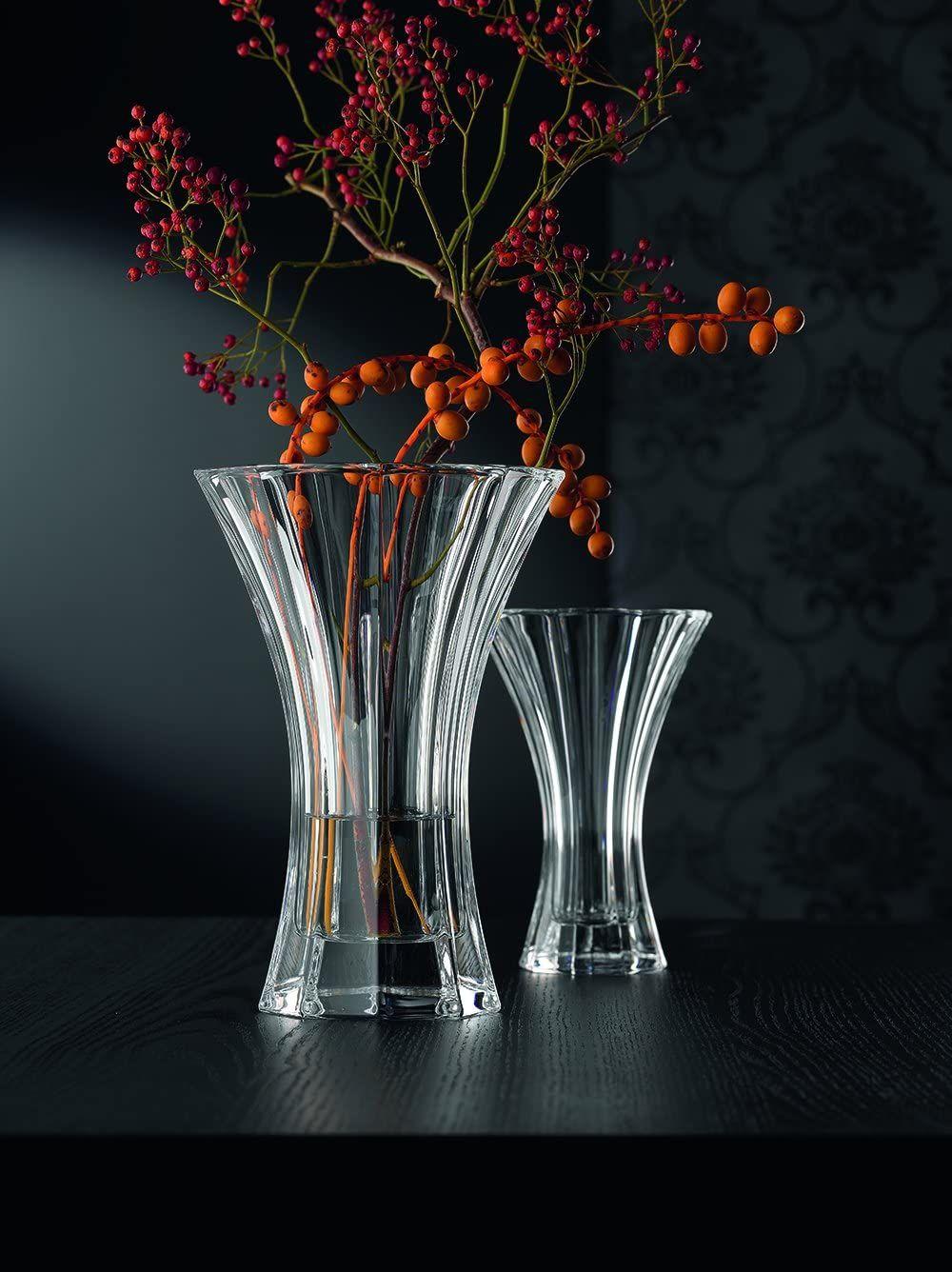 Für die Familienfeier, die festliche Tafel oder als Geschenk: Vase aus brillantem Kristallglas.  #Kristallvase #Vase #Blumenvase #Kristallglas #Deko