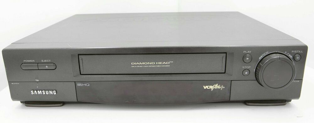 Samsung 4 Head Diamond VHS VCR VR5855 No Remote Tested Parts Or Repair Only