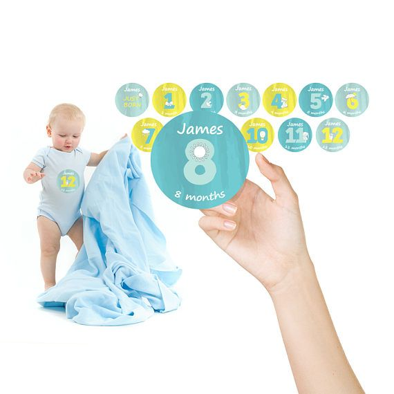 personalized baby boy monthly stickers monthly onesie decals