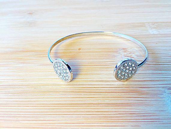 Rhinestone Circle Cuff Bracelet – Crazy Beautiful Jewels