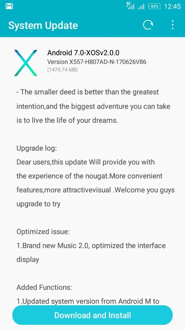 Infinix Hot 4 (X554) Now Receiving Nougat 7 0 update - See