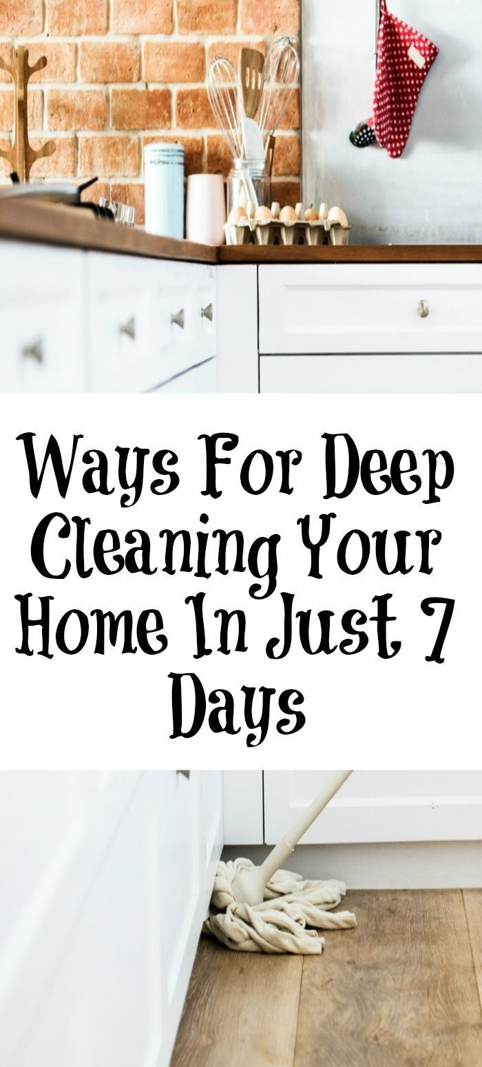 These are easy was for Deep Cleaning Your Home in Just 7 Days!! It is crazy how easy this can be to do and also to maintain. #lifehacks #springcleaning