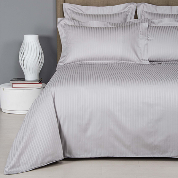 Frette Atlantic Gray Cliff Bed Sheet Set Queen Size
