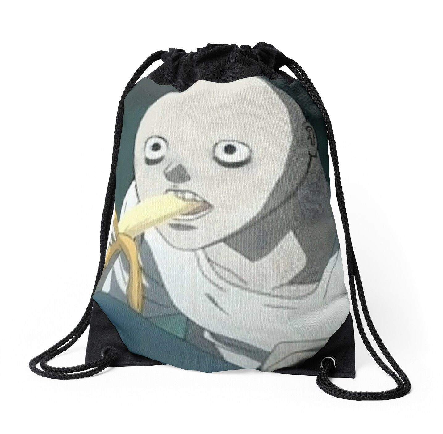 L Bald Banana But One Drawstring Bag by GameGriede