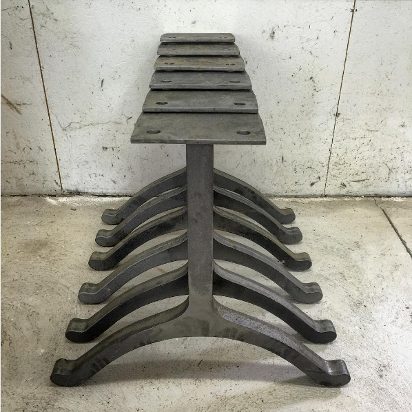 Wishbone in 2020 Cast iron table base, Metal table legs