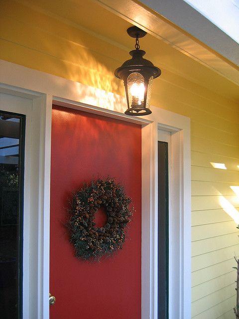 BM Heritage Red Front Door, Glidden Jonquil - Yellow ...