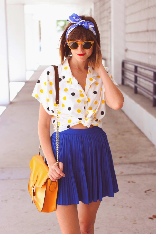 pleats and polka dots