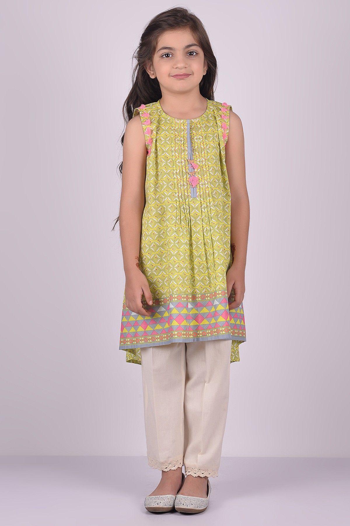 19cda016da Khaadi – Printed Kurta - Kids | Khadi | Pakistani kids dresses ...