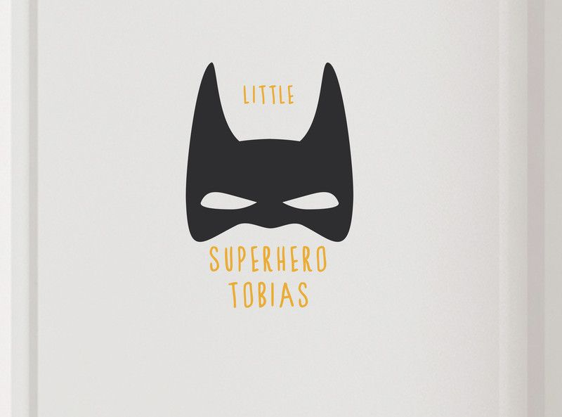 Namensschilder Kinderzimmer | Turschild Superhero Mit Namen Tur Namensschilder