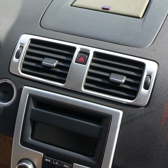 7d18a6f460f Stainless Steel central dash air condition AC Vent control frame cover trim  for Volvo C30 S40 V50 C70 Review