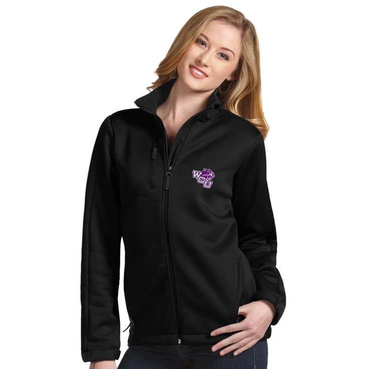 Western Carolina Catamounts Antigua Women's Traverse Full-Zip Jacket - Black - $97.99