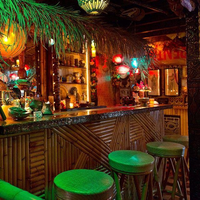 Elegant Basement Tiki Bar