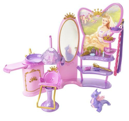 Mattel N5030 Accessoire Poupee Barbie Salon De Coiffure Raiponce Amazon Fr Jeux Et Jouets Poupees Barbie Barbie Jouet Maison De Poupee Princesse