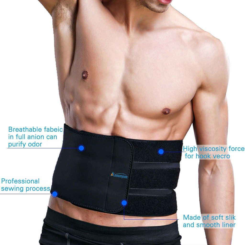 934c63c14d42b Waist Trainer Trimmer Shaper for Women Men Weight Loss Ab Belt Stomach Wrap  Sauna Belts Helps Abdominal Muscle  GymAccessoriesIdeas