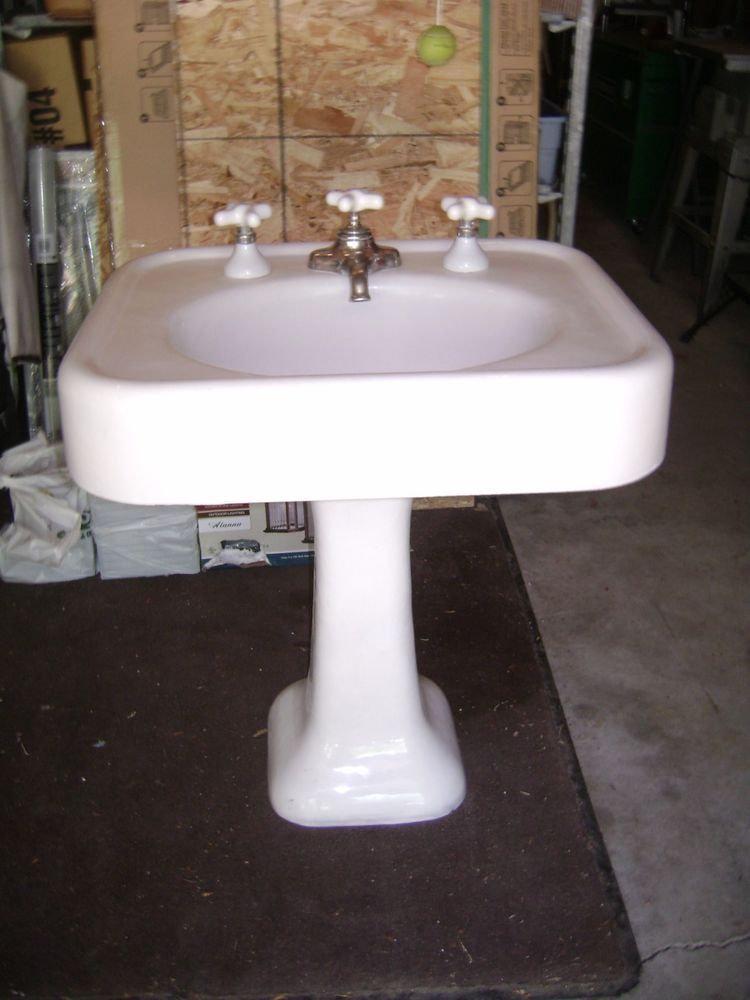 pedestal sink antique parts faucets of vintage