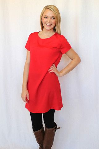 Candy Apple Red Dress | Hazel & Olive #hazelandolive #valentine