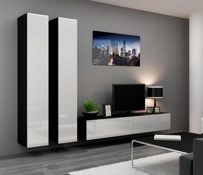 Tv Kast Wit Modern.Seattle 15 Zwevende Tv Kast Modern Tv Wall Units Living Room