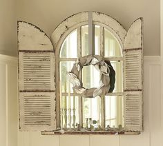 Vintage Style Wood Frame Arched Shutter Google Search