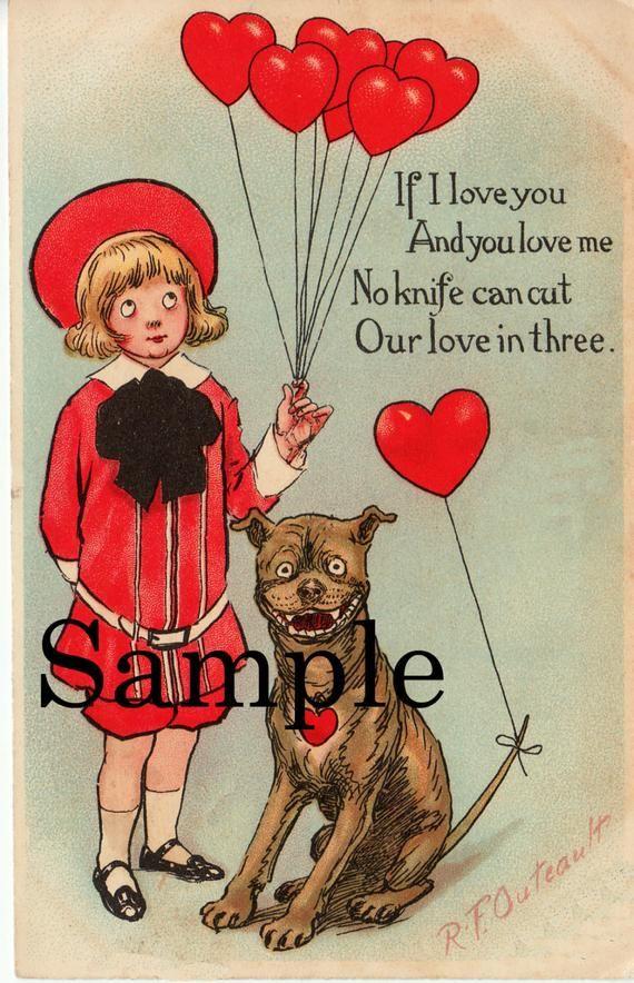 Buster Brown His Dog Tige Antique Postcard Images Vintage