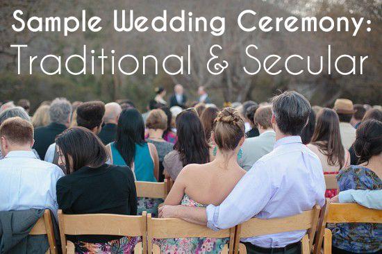 Non Religious Sample Wedding Ceremony Secular Wedding: Sample Wedding Ceremony: Traditional And Secular