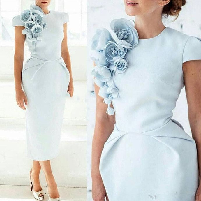 Photo of Light Blue Semi Formal Occasion Party Dress