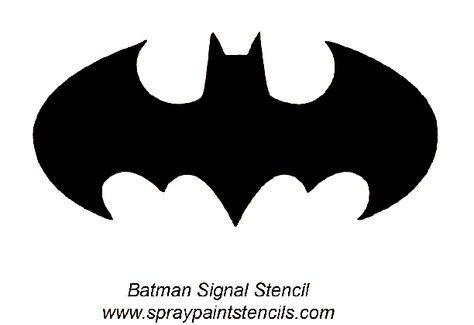 Batman Stencils Free Bat Signal View The Stencil Printable