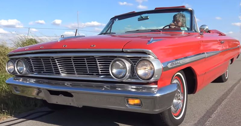 1964 Ford Galaxie 500 Convertible In Rangoon Red With Selectaire