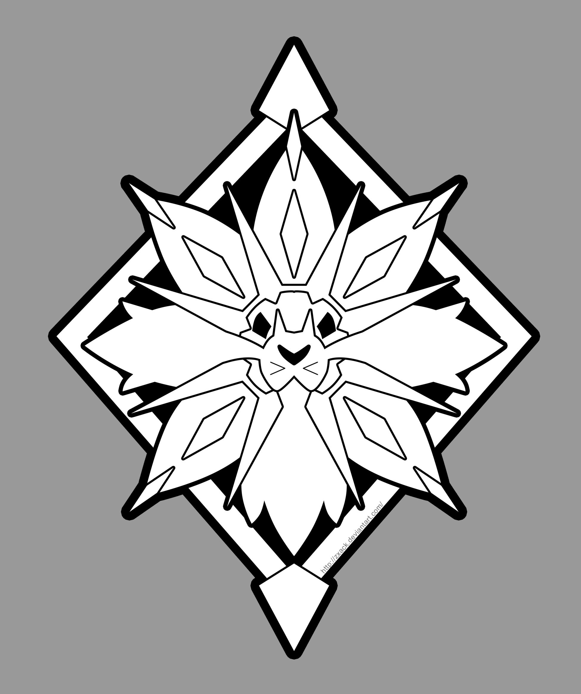 pokemon coloriage solgaleo  ohbq