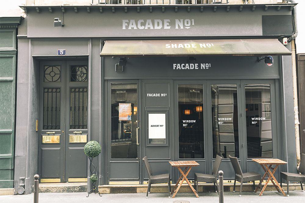 Free Bistro Store Facade Mockup In Psd Restaurant Facade Facade Storefront Design