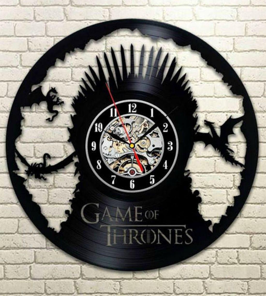 Game of Thrones clock, original wall clock made of vinyl