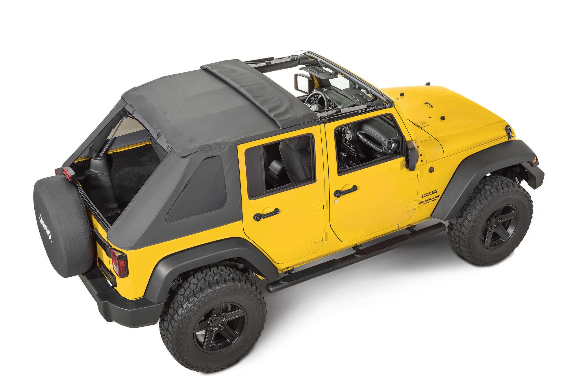 QuadraTop Adventure Top S with EZ Fold Sunroof for 07 16 Jeep