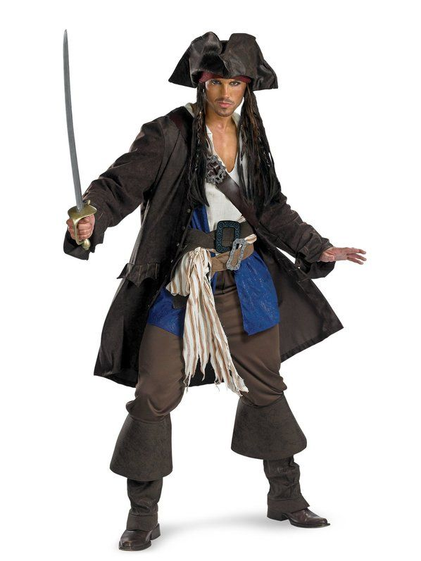 31fb90140ebfe Check out Captain Jack Sparrow Prestige Costume - Pirates of the Caribbean  Costumes from Wholesale Halloween Costumes