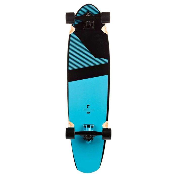 Longboard RAM Blacker Infinty Blue Skateboard New
