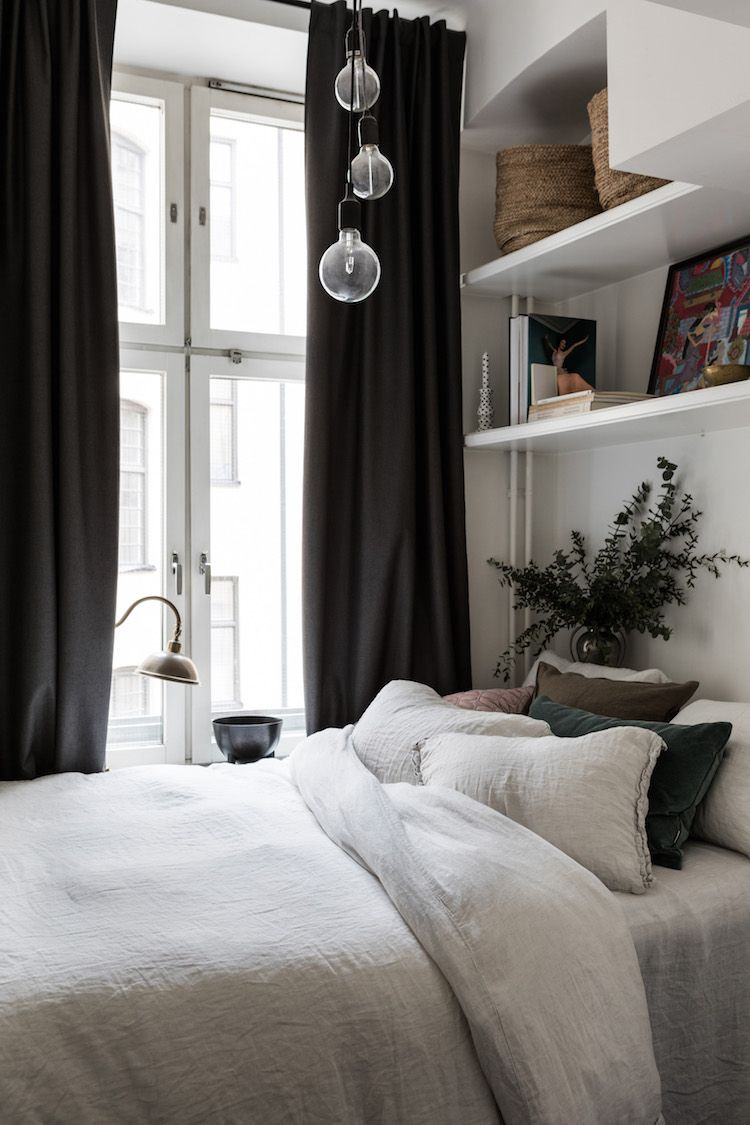 Basket storage and shelving idea for the bedroom