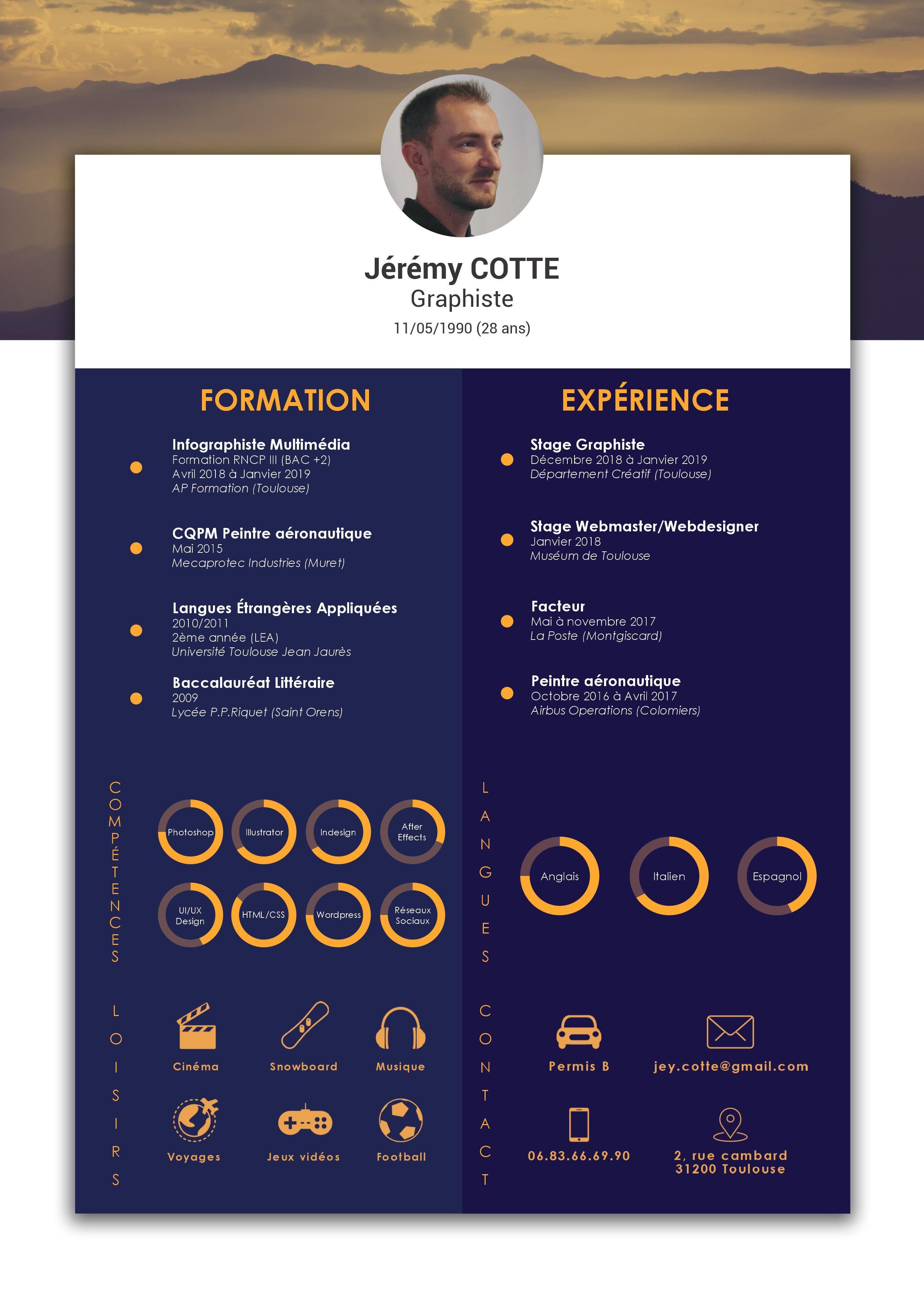 Cv Graphiste Cv Graphiste Graphiste Infographiste