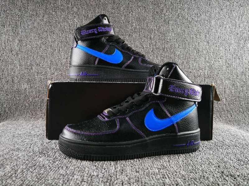 721c26cb8988 Nike Air Force 1 High Collection VLONE Black Blue AA536-001