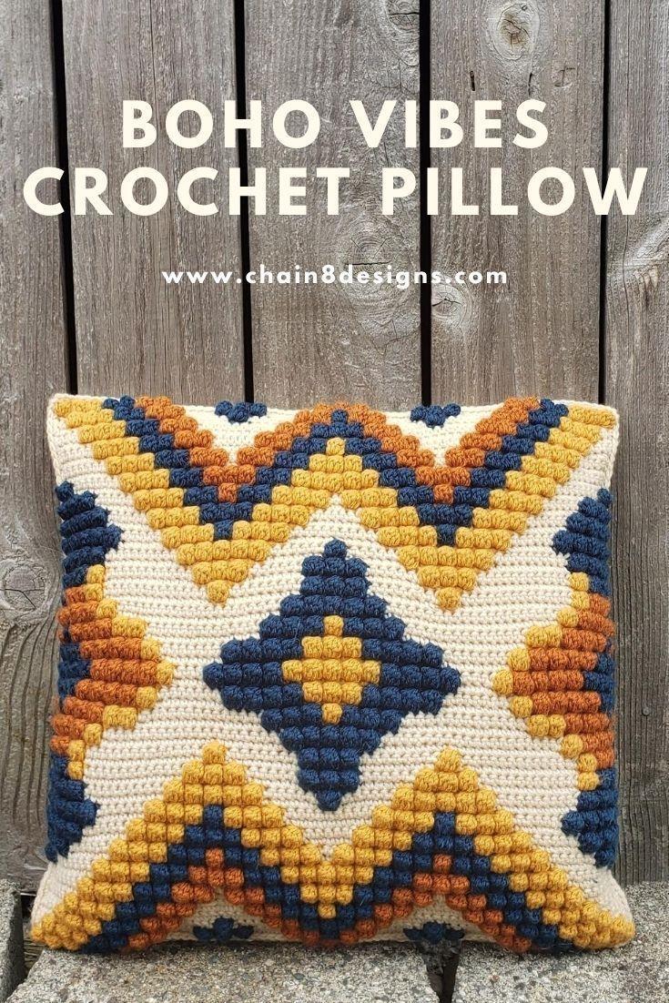 Photo of Boho Inspired Crochet Pillow Cover | Chain 8 Designs
